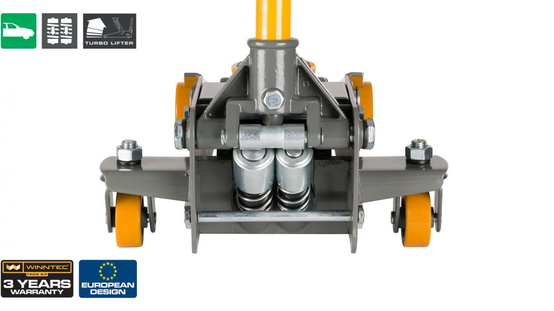 WINNTEC 3 Ton Turbo-Lift Trolley Jack 2